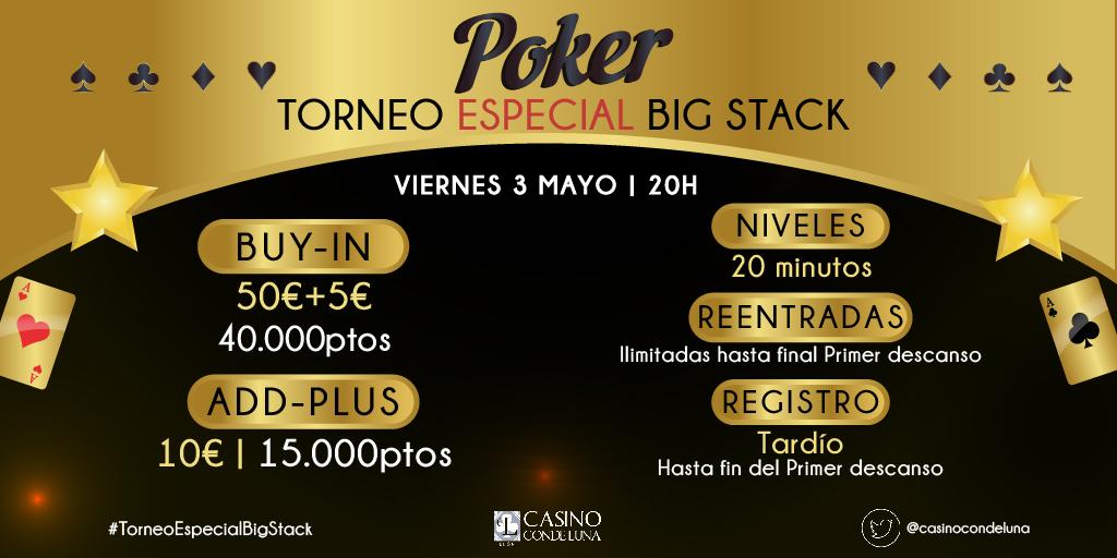 Casino conde luna torneos poker no deposit